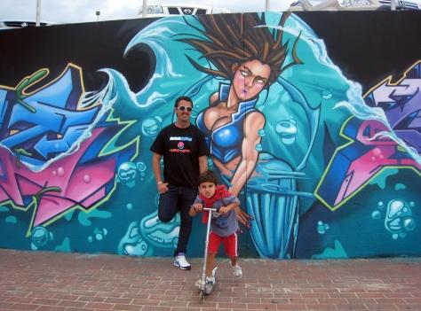 2010 - Paint Mermaid with Teazer and Nephew