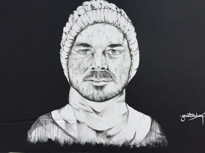 Video of Grant Molony painting RussMolony