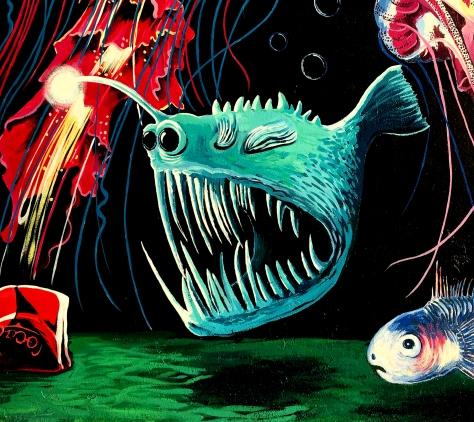 Green Angler Fish Detail