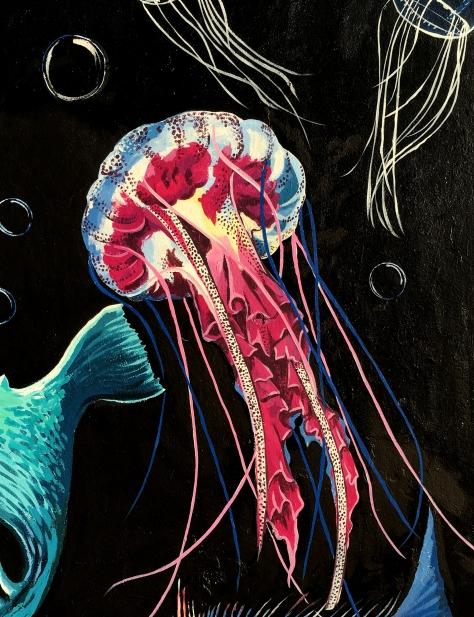 Pink Jellyfish Detail