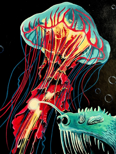 Red/Yellow Jellyfish Detail