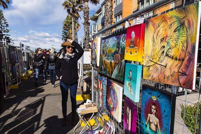 Art on the Streets at Bondi Winter Magic 2017!
