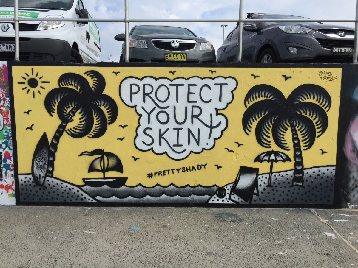 2017 – Protect Your Skin – Bondi Beach Graffiti Wall