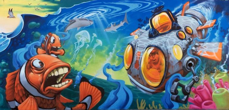 2013 - Peque Vrs - Surfing Nemo - Clownfish Submarine Detail