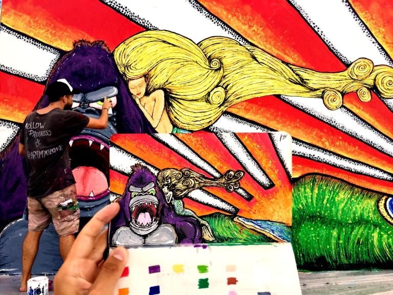 2018 - Art My Ozone - Gorilla Panic - with draft