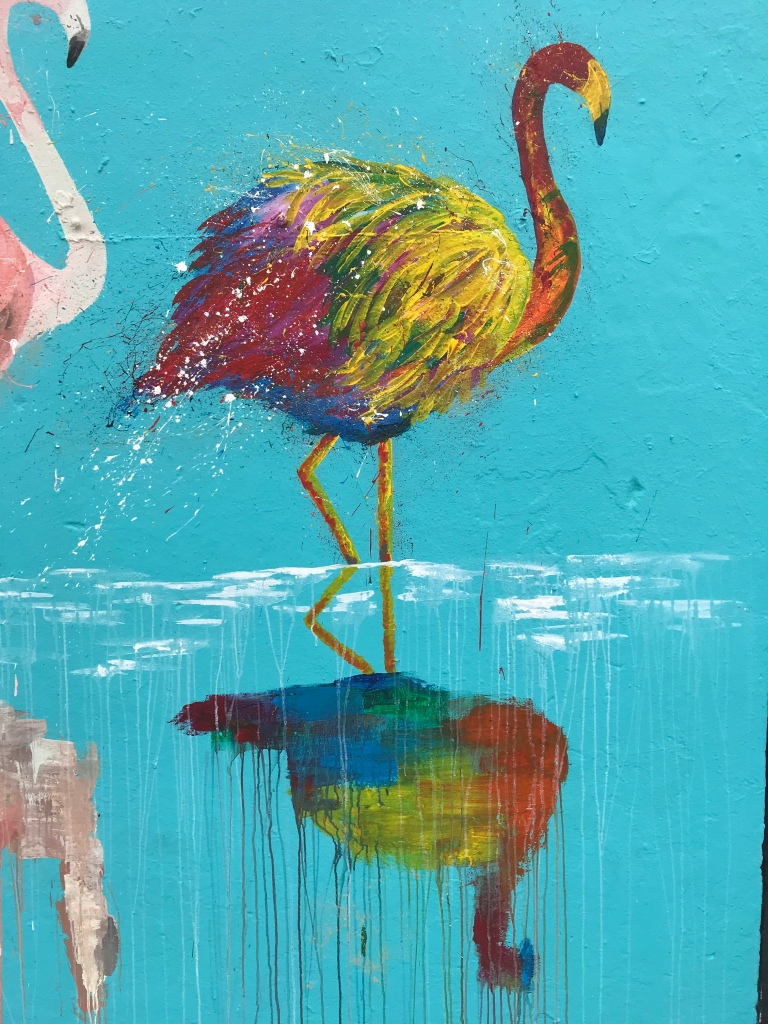 2018 - Sammy Art - Bondi Flamingos - Detail 1