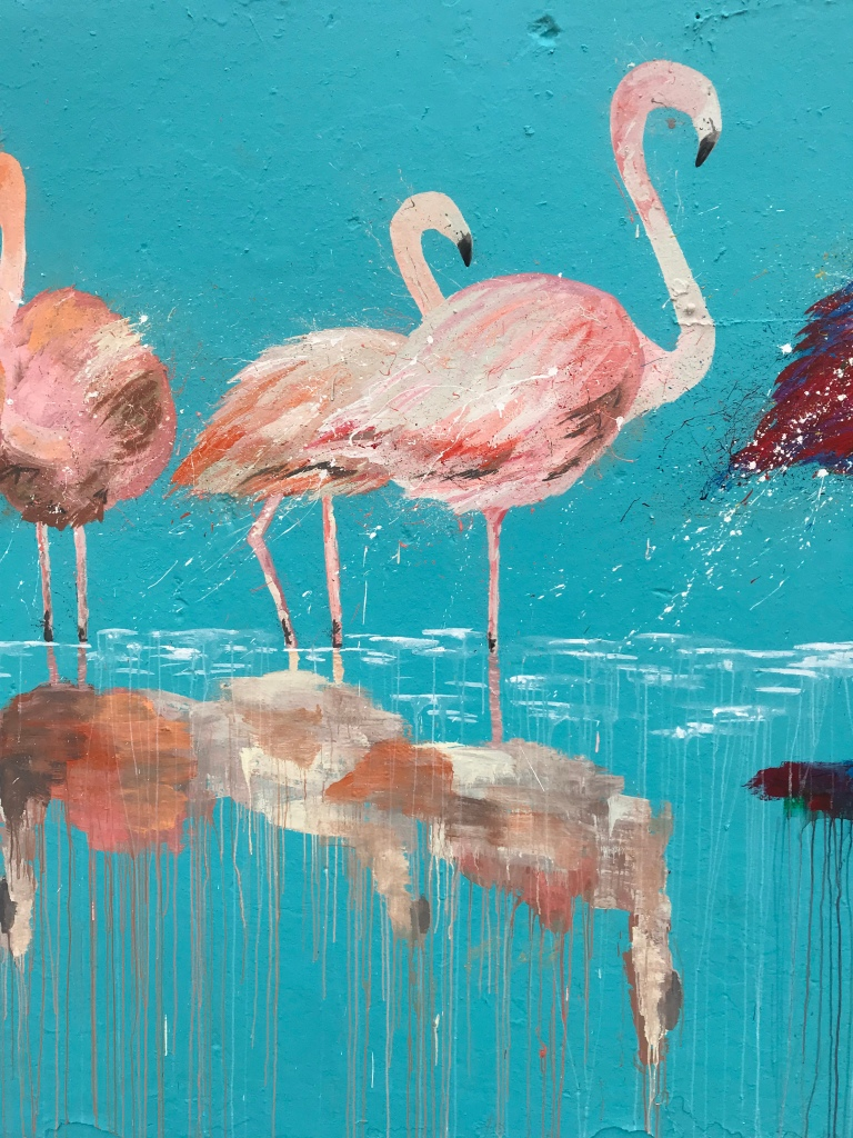 2018 - Sammy Art - Bondi Flamingos - Detail 2