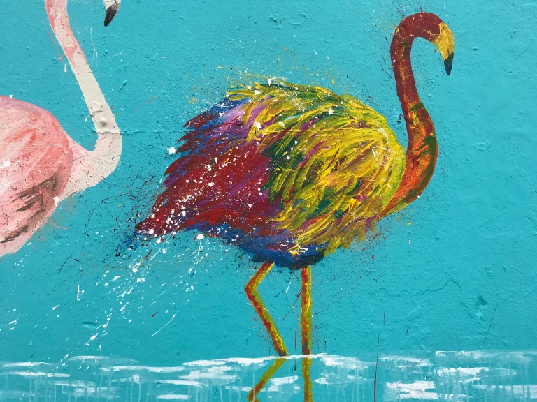 2018 - Sammy Art - Bondi Flamingos - Detail 3