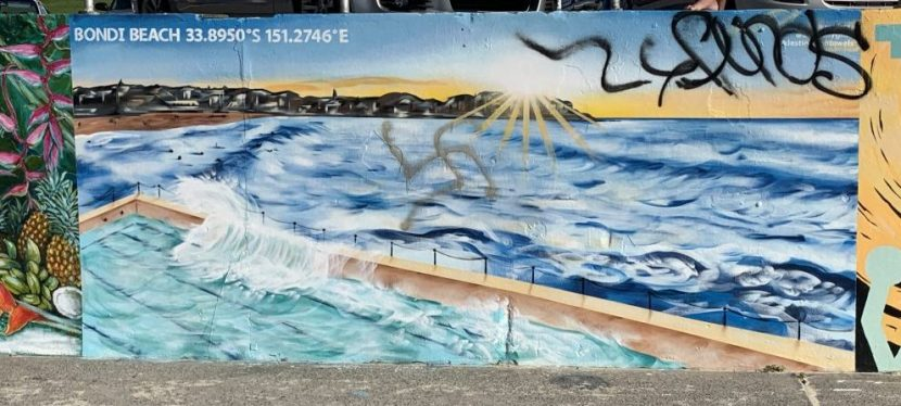 Bondi Beach Murals defaced with Swastikas