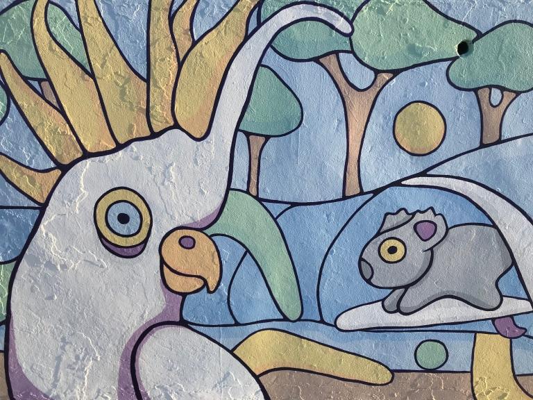 2019 - Brentos - Pastel Wildlife - Detail Cockatoo