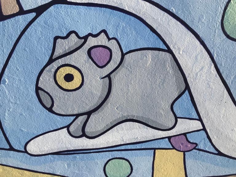 2019 - Brentos - Pastel Wildlife - Detail Surfing Koala