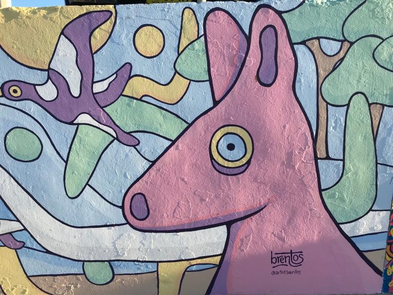 2019 - Brentos - Pastel Wildlife - Detail Roo